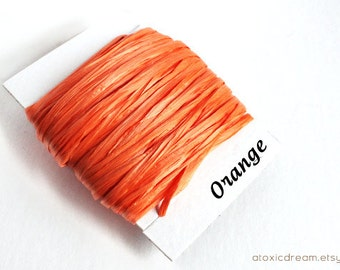 Orange Raffia - 30/100 yards - 1/4 inch wide