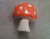 Mushroom, toadstool furniture knobs and drawer handles