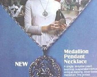 AVON Medallion Pendant Necklace 1974