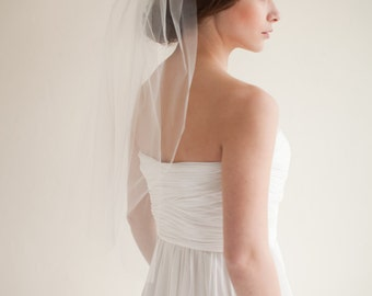 Wedding Veil, Elbow Length Bridal Veil, Tulle Veil, 28 inches- Hannah - Style 7513