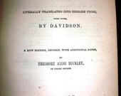 Antique Book The Works of Virgil by Davidson 1873 Harper & Brothers