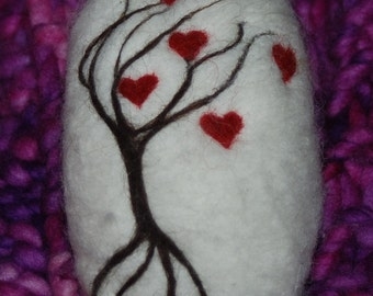 Felted Soap Tree Of Hearts Valentine's Day Gift, Love Romance, Christmas Gift