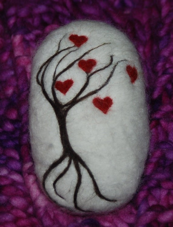 Felted Soap Tree Of Hearts Gift Soap Spring, Christmas Stocking ...