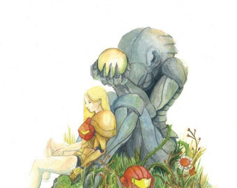 Samus Metroid 12x18 Illustration Print