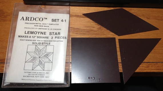Vintage ARDCO metal quilt template for 12 LeMoyne Star
