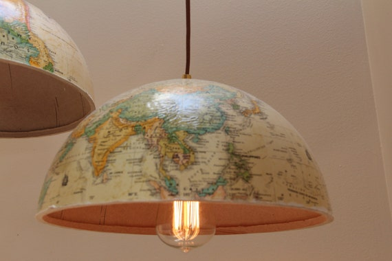 Pictures Of Hanging Light Fixtures: Items Similar To WORLD GLOBE Lights