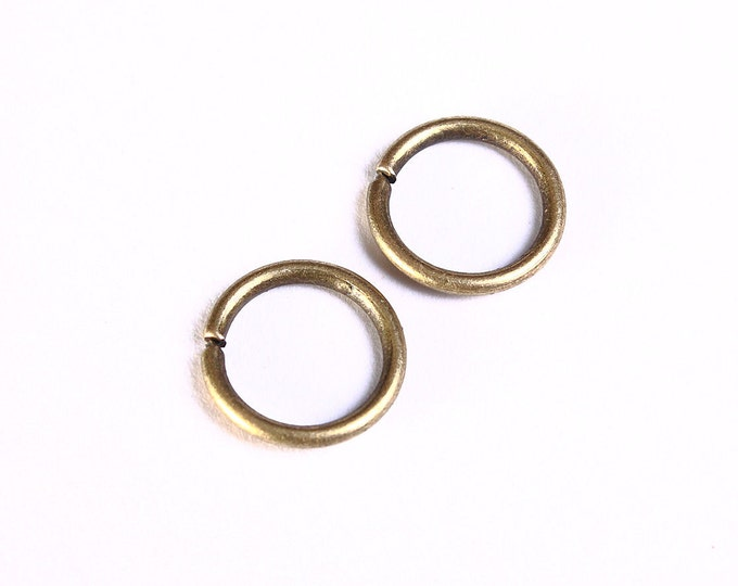 10mm antique brass jumpring - round jumpring - open jumpring - antique bronze jumpring - nickel free - lead free (990) - Flat rate shipping