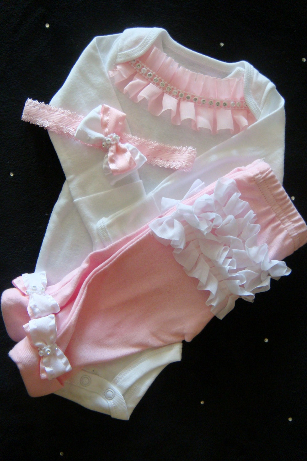 Newborn Take Home Outfit Baby Girl Ruffles Newborn Outfit