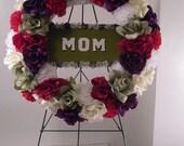 Reserved Listing for Reynolds Gravesite Wreath, Cemetery Silk Flowers, Memorial Flowers, Silk Flower Wreath // Funeral Flowers