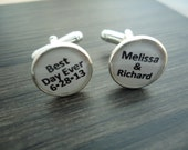 Personalized Cuff Links - Personalized for Dad, Groom or Wedding - Custom Photo Cufflinks