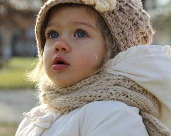Crochet Hat for Girls, baby hat, crochet newsboy hat, kids hat, newborn hat