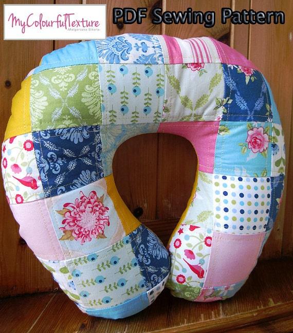 & PDF Sewing Pattern Neck Pillow Printable pillowsntoast.com