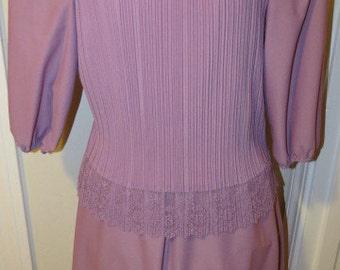 Pretty In Rose Womens 80's Dress