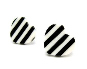 My Heart Skips a Beat Striped Stud Earrings