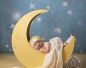 The Original - Moon Prop, Newborn Photography Prop Moon, Moon Photo Prop, Wood Moon Prop