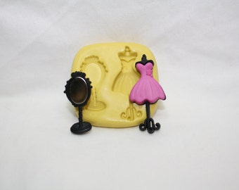 Mirror and Mannequin dres- Silicone mold.