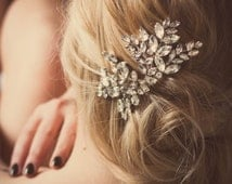 Crystal Wedding Headpiece, Bridal Headpiece, Winter Wedding Headpiece, Crystal Hairxomb, Miss Nanna rhinestone crystal comb #173