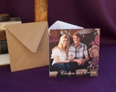 Wedding Invitation: Customizable. Tri-Fold. Country Whimsy. Flowers & Photos.