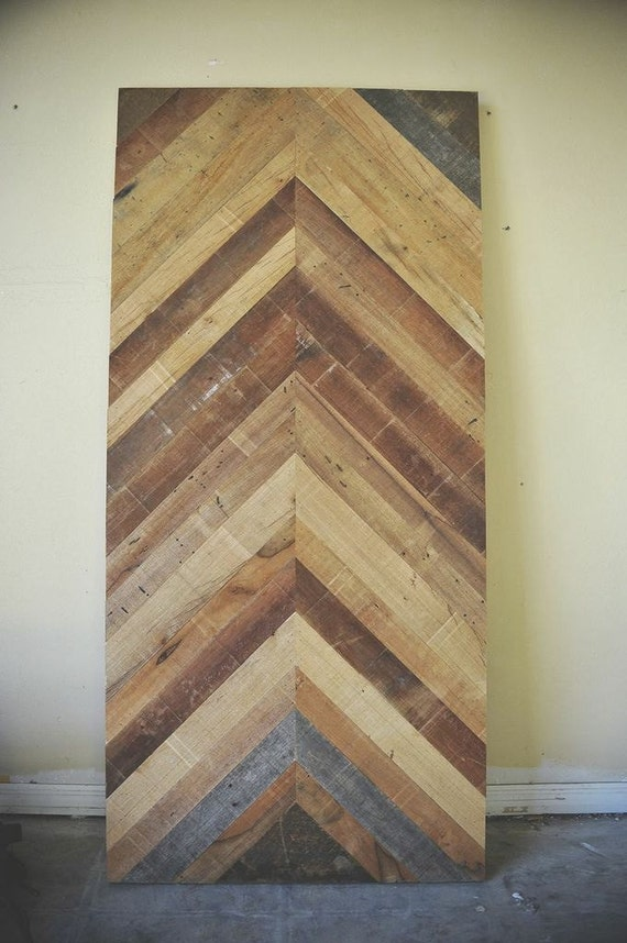 Items Similar To Reclaimed Barn Wood Chevron Herringbone