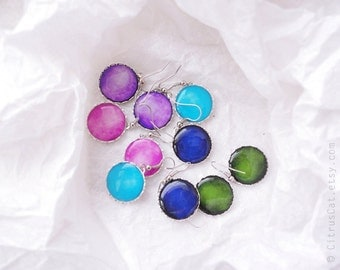 Set of 5 Colorful lollipops earrings - Spring Collection