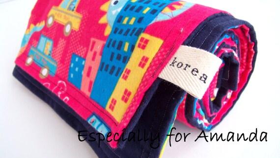 Baby Boy Blanket Special Order for Amanda Korea Dinosaur Traffic Africa Adoption Fundraiser