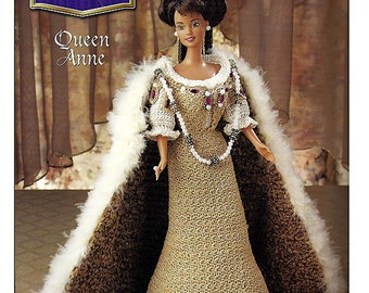 The Royal Court Collection Queen Anne Fashion Doll  Crochet Pattern  Annies Attic
