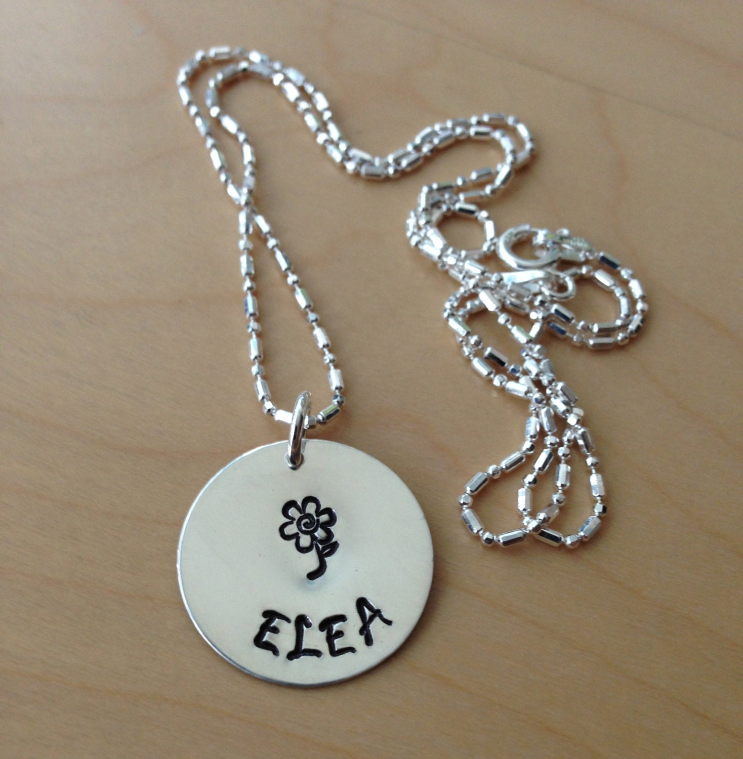 Sterling Silver Personalized, Hand Stamped Necklace