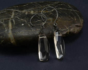 Clear Quartz Nugget Earrings