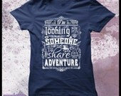 "The Hobbit t shirt - Women's Decorative typography movie t shirt. ""Help wanted"""