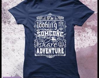 "The Hobbit t shirt - Women's Decorative typography movie t shirt. ""Help wanted"""