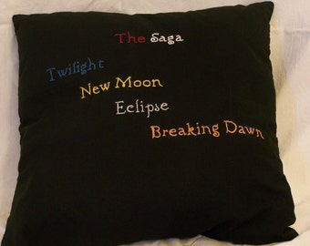 Twilight Inspired, The Saga, Throw Pillow
