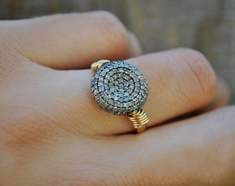 PAVE DIAMOND  ring.