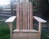 Cedar Adirondack Chair - Natural
