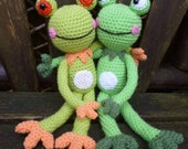 Fernando and Franklyn, Froggy Friends Amigurumi Crochet Pattern