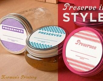 Letterpress Canning Labels / 32 Pack