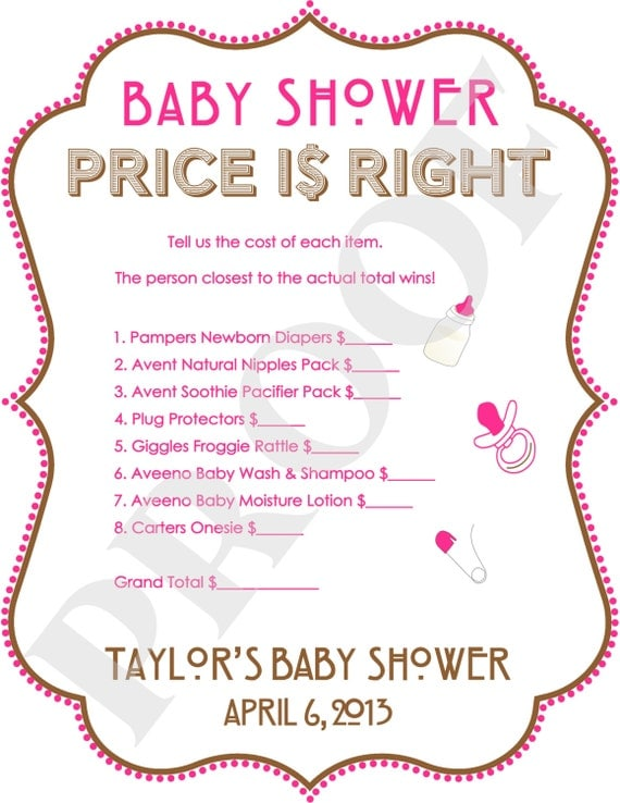 Dynamite image intended for the price is right baby shower game free printable