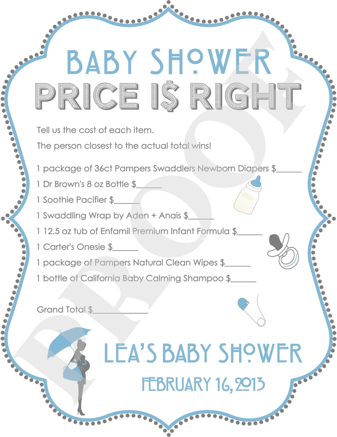 the price is right baby shower game blue jpeg file