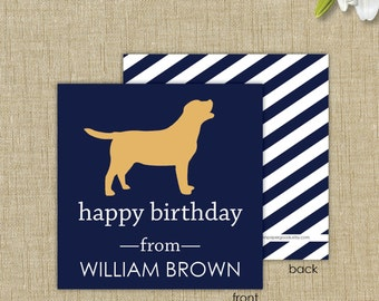 Personalized gift enclosure card with envelopes. Dog gift enclosure card