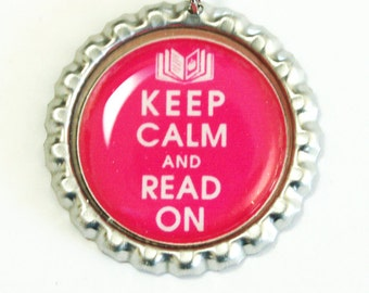 Keep Calm Read On, Keep Calm Bookmark, bookmark, book mark, Shepherd Hook, you pick color (2566)