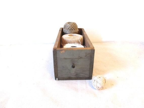 Vintage Wood Box With Handle