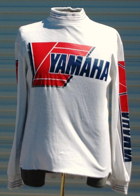 large vintage yamaha motorcross longsleeve t shirt by