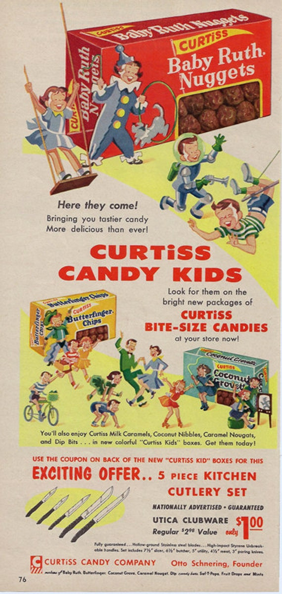 Retro Kitchen Decor Baby Ruth Butterfinger Coconut Groves Curtiss    Retro Kitchen Ad