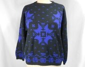 vintage 1980s GAP snowflake sweater / women's vintage sweater / size medium