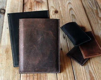 Ipad Mini leather sleeve. Simple leather case for Ipad Mini. Ipad leather case. Ipad Mini leather pocket. Ipad sleeve.