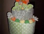 Topsy Turvy Diaper Cake-Neutral