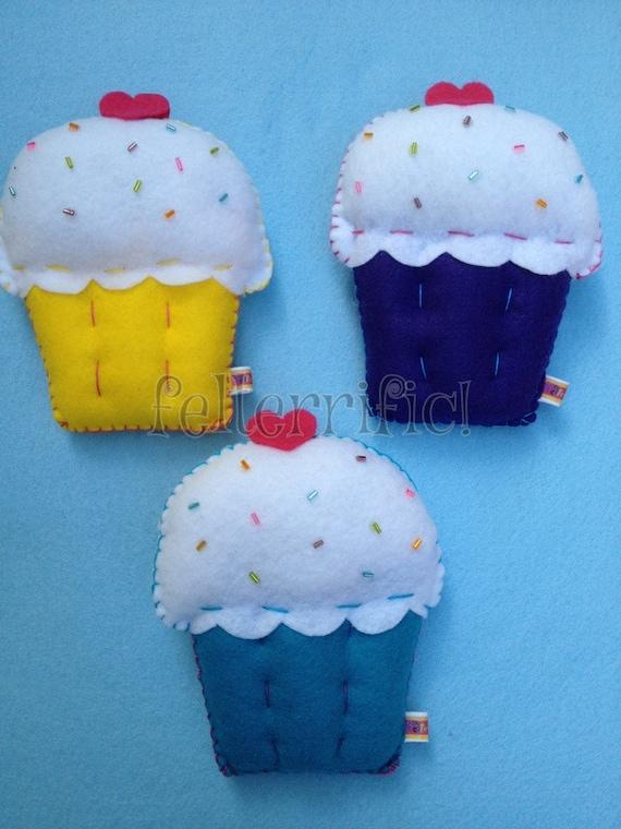 Handmade Cupcake Tooth Fairy Pillow
