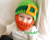 Irish Leprechaun Beard Hat Saint Patricks Day Kiss Me I'm Irish Bearded Beanie - YumbabY