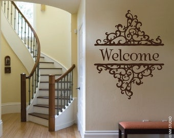 "Welcome Wall Decal 22"" x 28"""