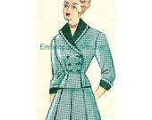Plus Size (or any size) Vintage 1949 Skirt Suit Sewing Pattern - PDF - Pattern No 72 Sonja