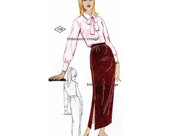 Plus Size (or any size) Vintage 1969 Skirt Pattern - PDF - Pattern No 107 Lesa Skirt
